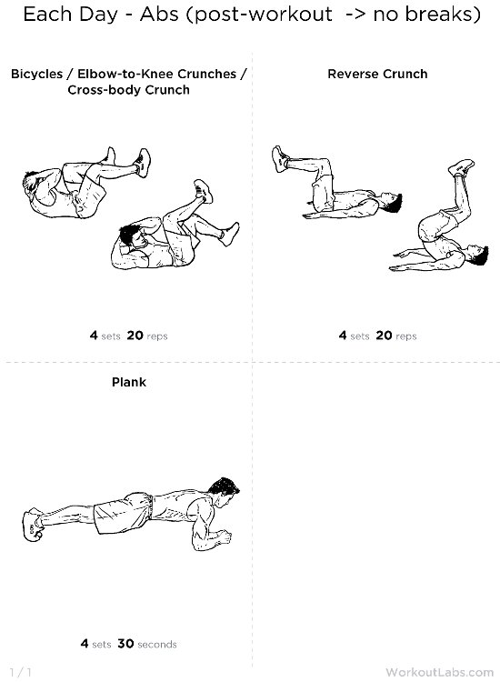 free sixpack abs exercises